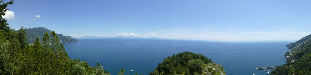 View from the top of Monte Aureo