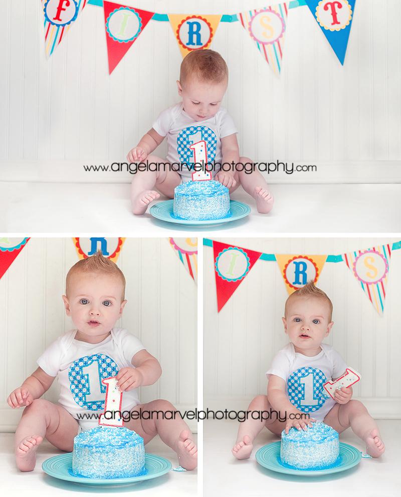puyallup baby photographer cake smash