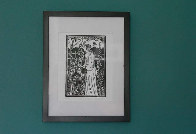 """""""Hollyhocks"""" Print, by Dave Flitcroft"""
