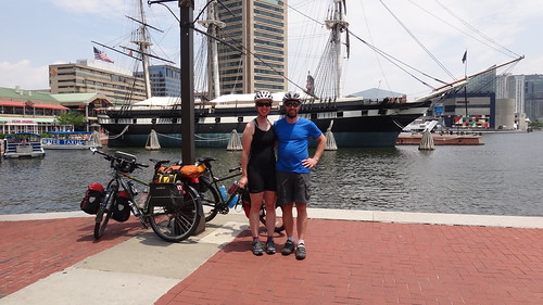 Day 1: lunch in Baltimore's Inner Harbor