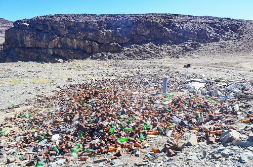 Secret garbage dump in the Ugab canyon
