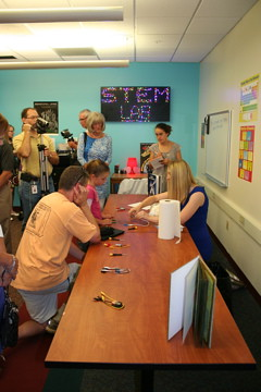 Visitors during the STEM Lab Grand Opening.