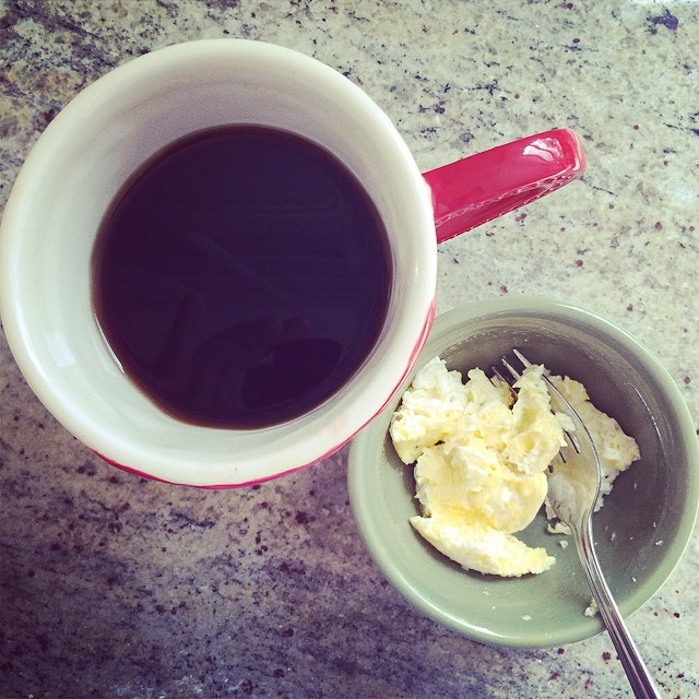 Day 11, #Whole30 - breakfast (back coffee & micro eggs)