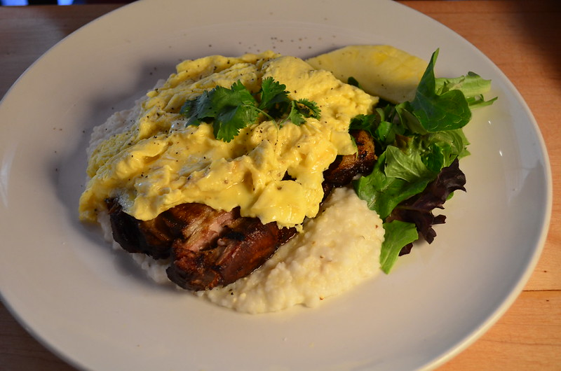 Smoked Pork Shoulder with Grits and Eggs