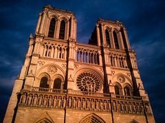 Notre-dame at sunset