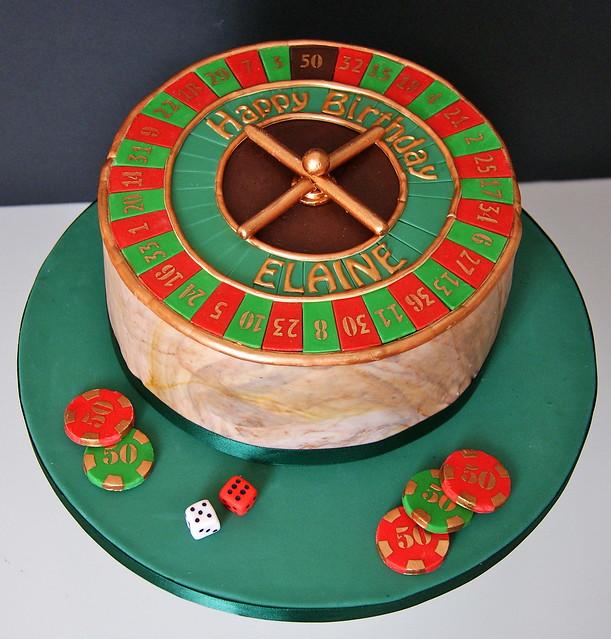 Roulette wheel cakes