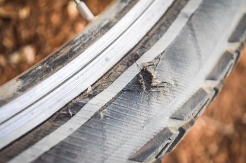 Schwalbe tires, the Performance line has very weak sidewalls