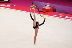 rings(0.0), floor gymnastics(1.0), individual sports(1.0), ribbon rhythmic gymnastics(1.0), sports(1.0), performing arts(1.0), gymnastics(1.0), gymnast(1.0), entertainment(1.0), artistic gymnastics(1.0), rhythmic gymnastics(1.0),