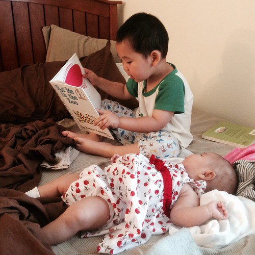 The American Academy of Pediatrics says you should read to newborns.