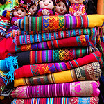 Alpaca wool blankets in Cusco