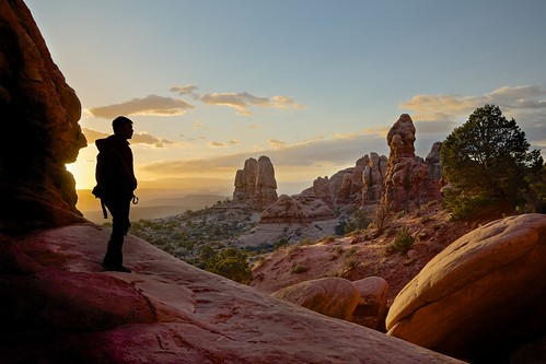morning silhouette sunrise landscape dawn utah nationalpark arches archesnationalpark