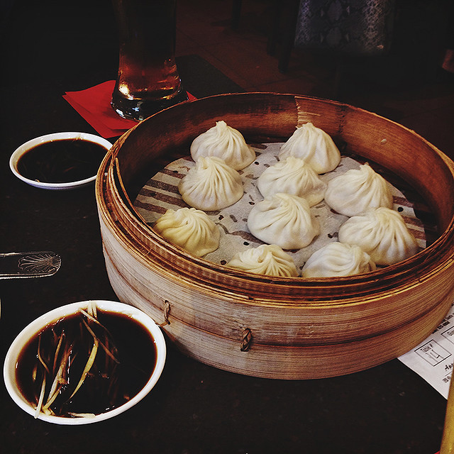 juicy pork dumplings.