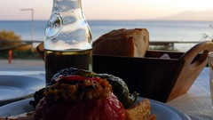 gemista, wine and bread with a sea view IMG_5259