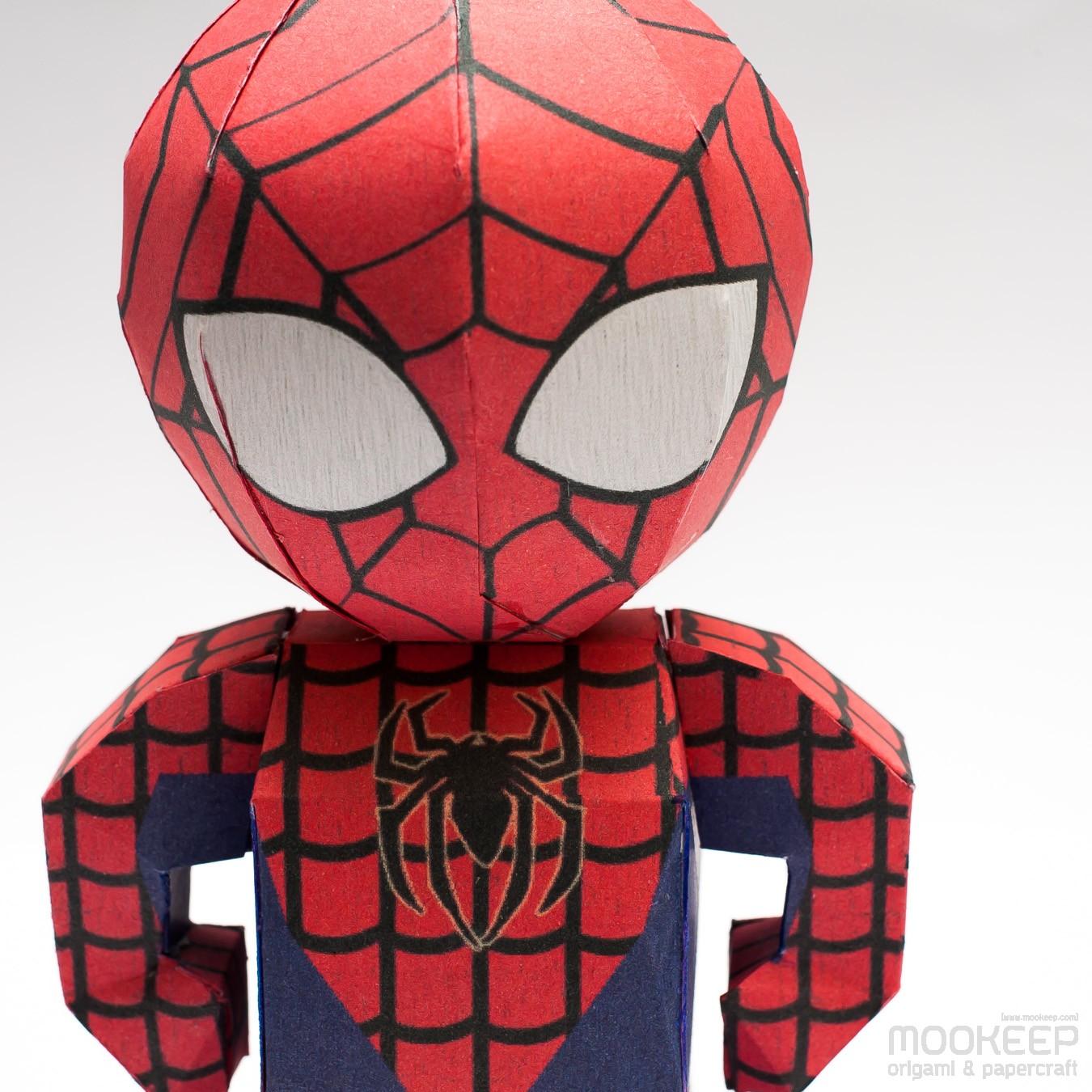 วิธีทำของเล่นโมเดลกระดาษสไปเดอร์แมน (Spiderman Papercraft Model) 004