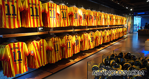 Yellow and red stripes jersey