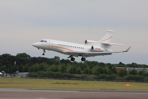 VQ-BSP Falcon 7x c/n 83 Shell Aircraft Ltd