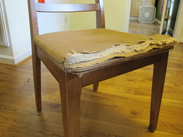 Reupholstered Chairs - before