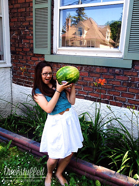 Bria meets watermelon