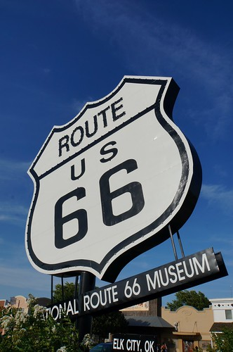 Route 66 Museum Sign - Route 66, Elk City, Oklahoma