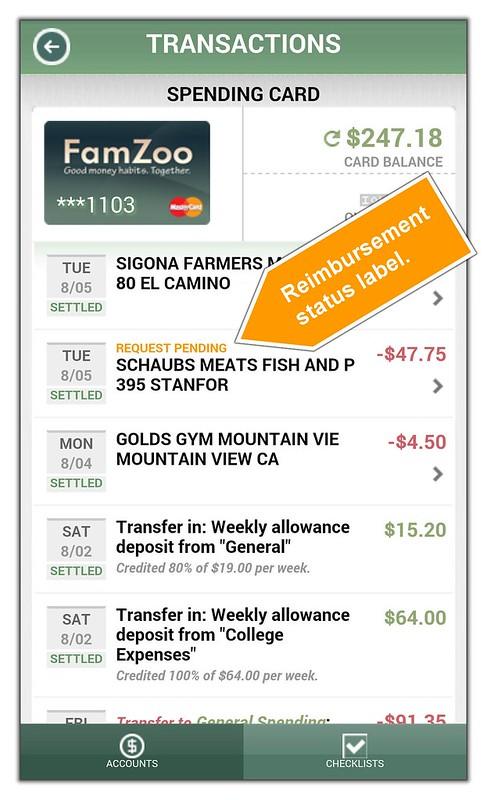 Pending reimbursement status label.