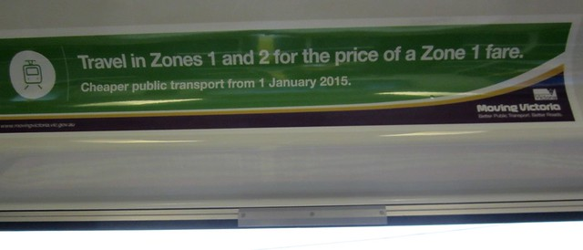 Ad in train for government fare changes