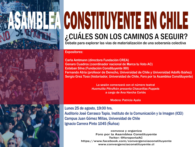 Panel: Asamblea Constituyente en Chile, los caminos a seguir.