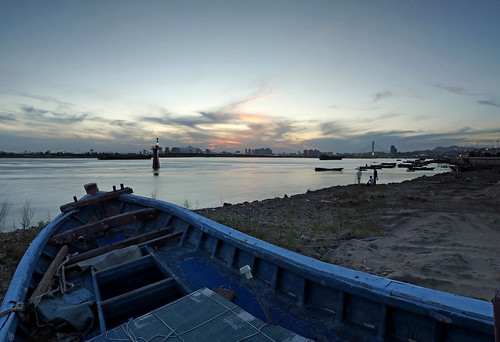 sunset flats tidal 泉州 滩涂 霞光 浔埔 妈祖码头