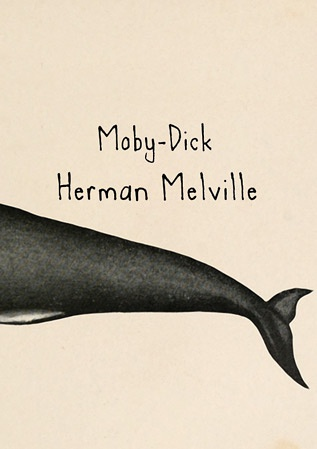 《白鲸》Moby Dick图书封面