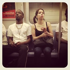 Monday afternoon Q train. #nycsubwayportraits #nyc #train #subway #publictransportation #commute