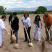 Breaking ground at PMI's new site.