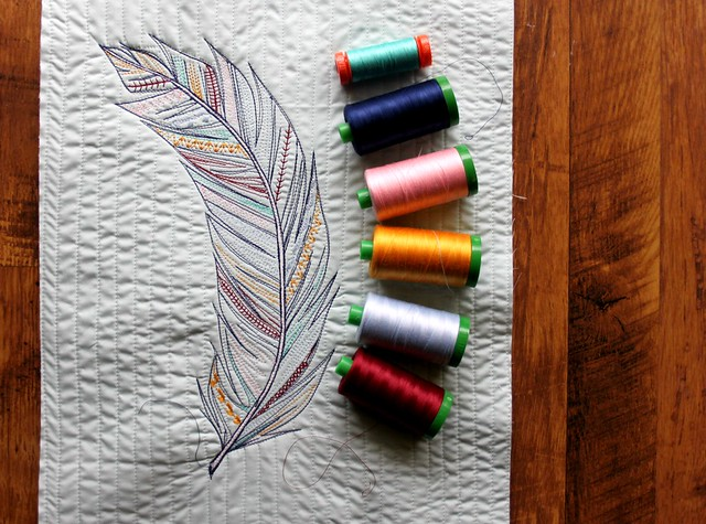 Feather Sketch & Aurifil