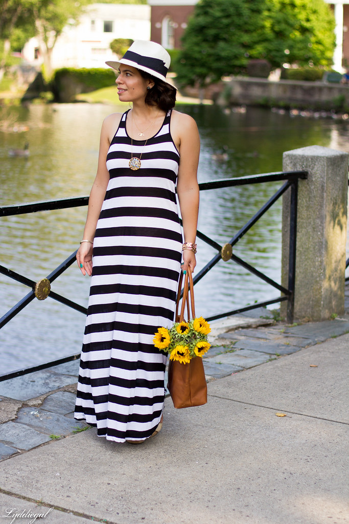 striped maxi dress and sunflowers-3.jpg