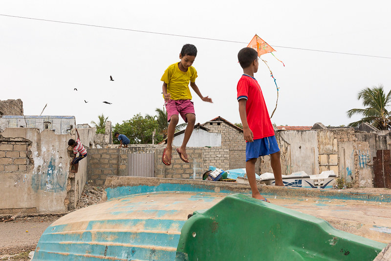 Children playing, Beach road, Jaffna