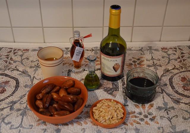 Dulcia domestica (stuffed dates), Ingredients