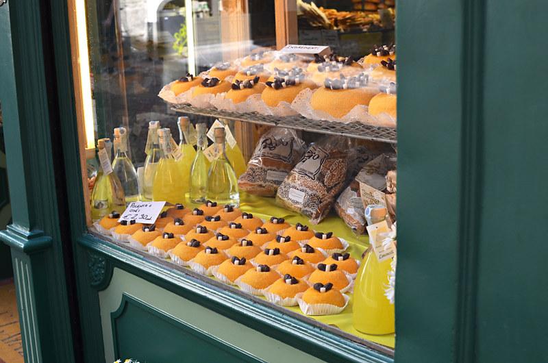 Polenta cakes, Bergamo, Italy
