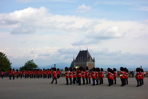 Changing of the guard at La Citadelle de Québec