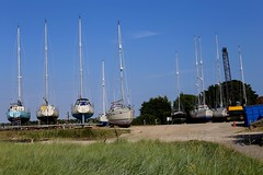 Itchenor boatyard, Chichester Harbour