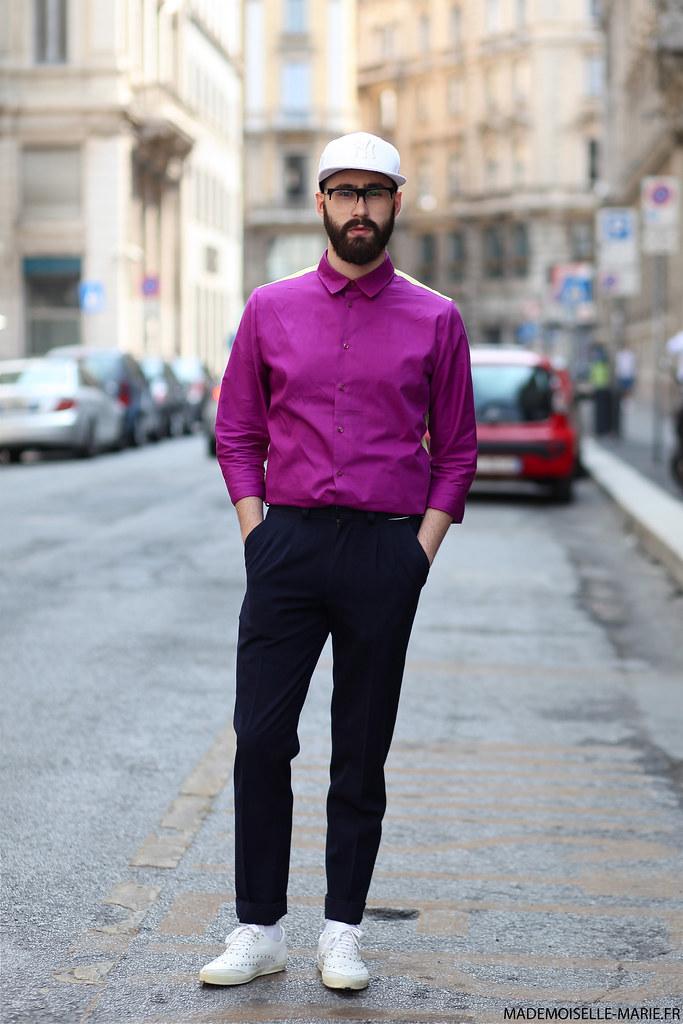 Alessio at Milan Fashion Menswear day 2