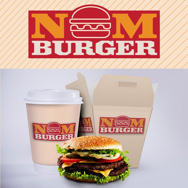 NOM Burger logóterv