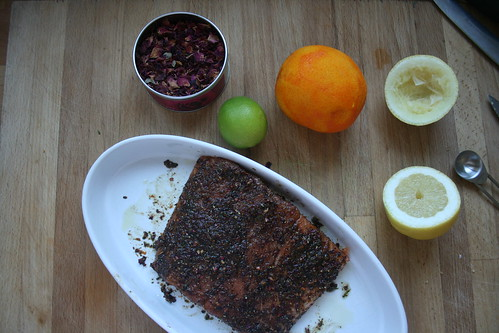 Citrus-spiced salmon
