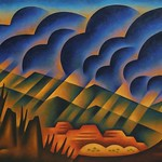 Sushe Felix; Sweeping Squall; Acrylic on panel; 36 x 60; Courtesy of William Havu Gallery, Denver -