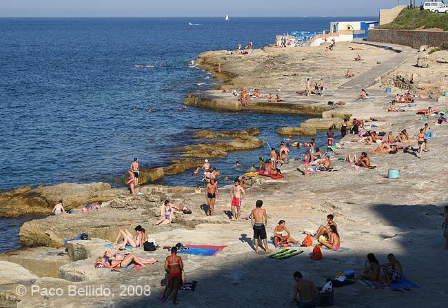 Playa rocosa. © Paco Bellido, 2008