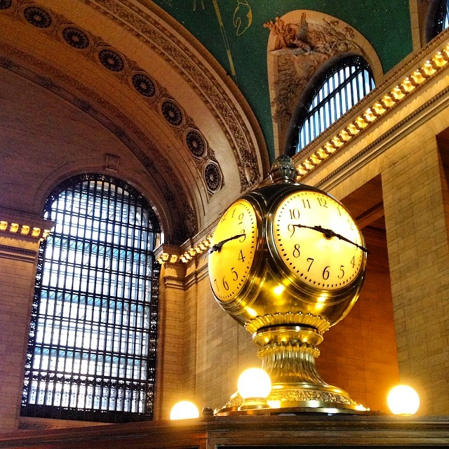 "How many times have people said, ""Meet me at the clock in Grand Central""? #nyc #grandcentral"