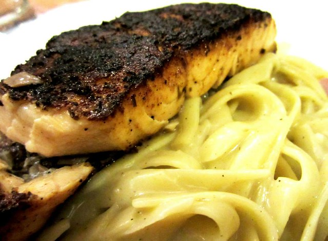 Aussie Story salmon carbonara fettuccini 2