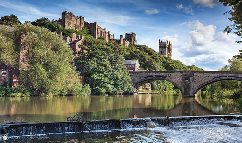bridge blue plants reflection tree castle water clouds canon photography waterfall agua shadows silent durham cathedral eagle north east lee cumulus sep filters copyright© silenteaglephotography silenteagle09