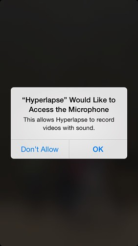 Hyperlapse wants access to my phone! Oh my!