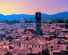 Digital Oil Pastel Drawing of Lucca, Italy by Charles W. Bailey, Jr.