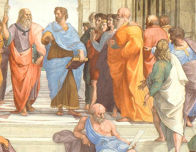Detalle de La Escuela de Atenas (Rafael)