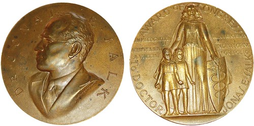 Jonas Salk Congressional Gold Medal in bronze