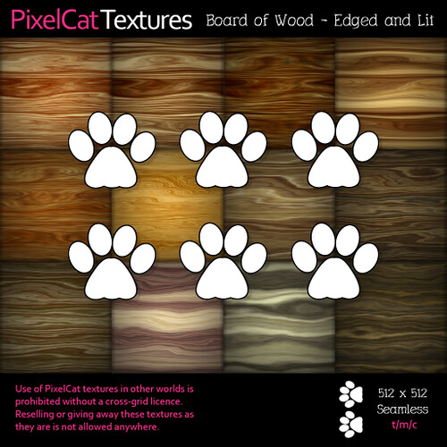 PixelCat Textures - Board of Wood - Edged and Lit